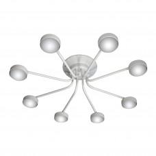 Люстра потолочная светодиодная плоская российского производства ПЕТРАСВЕТ S2396-8, 8хGX53 макс. 20Вт