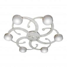 Люстра потолочная светодиодная плоская российского производства ПЕТРАСВЕТ S2400-6, 6хGX53 макс. 20Вт